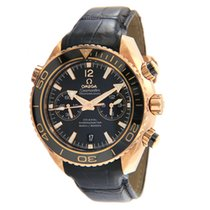 Omega Rose gold Automatic Black 45.5mm pre-owned Seamaster Planet Ocean