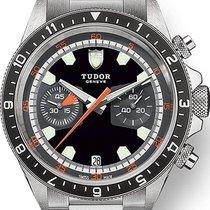 Tudor Heritage Chrono Steel 42mm Black