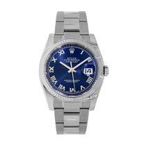 Rolex Datejust Steel 36mm Blue Roman numerals