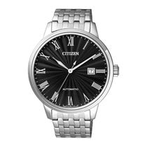 Citizen Watch new Steel 42mmmm Roman numerals Automatic Watch with original box and original papers