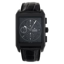 Maurice Lacroix Pontos pre-owned 38mm Black Chronograph Date Leather