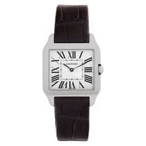 Cartier Santos Dumont pre-owned 31mm Champagne Leather