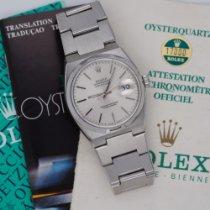 Rolex Datejust Oysterquartz Zeljezo 36mm Srebro Bez brojeva