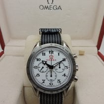 Omega Speedmaster Broad Arrow usados 42mm Blanco Cronógrafo Fecha Textil