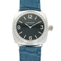Panerai White gold Automatic Black 40mm pre-owned Radiomir