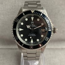 Tudor Steel Automatic Black No numerals 36mm pre-owned Submariner
