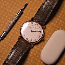 파텍필립 칼라트라바 핑크골드 32mm 흰색 아라비아 숫자
