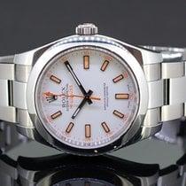 Rolex Milgauss Сталь 40mm Белый Без цифр