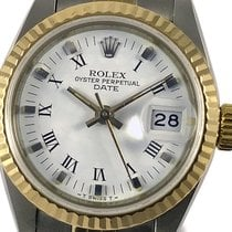 Rolex Lady-Datejust Gold/Steel 26mm White Roman numerals
