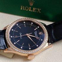 Rolex Cellini Time подержанные 39mm Черный Застежка-шип