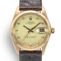 Rolex Oyster Perpetual Date 1503 Vintage Very good Yellow gold 34mm Automatic