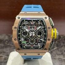Richard Mille Růžové zlato Automatika Průhledná Arabské nové RM 011