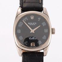Rolex Cellini Danaos Белое золото 25mm Черный Aрабские