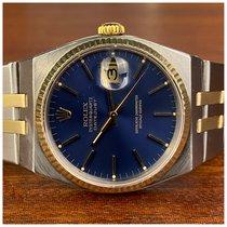 Rolex Datejust Oysterquartz brugt 36mm Blå Dato Guld/Stål