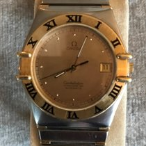 Omega Constellation pre-owned 35mm Gold Date Fold clasp