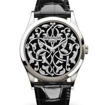 Patek Philippe Platinum Automatic Black No numerals 38mm new Calatrava