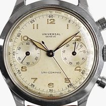 Universal Genève Compax Steel 38mm Champagne Arabic numerals United States of America, Texas, Houston