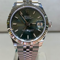 Rolex Lady-Datejust Acier 31mm Vert