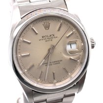 Rolex Oyster Perpetual Date Acero 35mm Plata Sin cifras