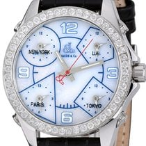 Jacob & Co. Five Time Zone Steel 40mm Mother of pearl Arabic numerals United States of America, New York, Greenvale