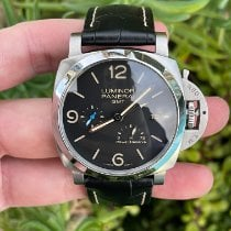 Panerai Luminor 1950 3 Days GMT Power Reserve Automatic Steel 44mm Black Arabic numerals United States of America, California, Los Angeles