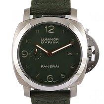 Panerai Luminor Marina 1950 3 Days Titanium 44mm Groen Arabisch