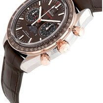 Omega Speedmaster Professional Moonwatch Moonphase Acero y oro 44.25mm Marrón Sin cifras