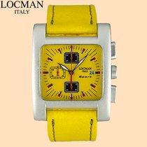 Locman Sport Quadrato Aluminum 39mm Yellow Arabic numerals United States of America, New York, New York