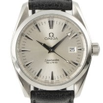 Omega Seamaster Aqua Terra pre-owned 35mm Silver Date Leather