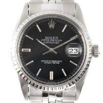 Rolex Datejust Stahl 34mm Schwarz