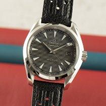 Omega Acier Quartz Noir 38.5mm occasion Seamaster Aqua Terra