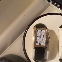 Cartier Yellow gold Quartz White Roman numerals 26mm pre-owned Tank Américaine