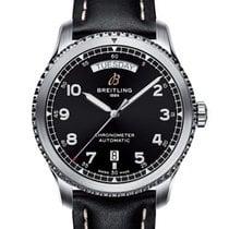 Breitling Aviator 8 Acero 41mm Negro Arábigos
