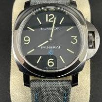 Panerai Luminor Base Logo Сталь 44mm Черный Aрабские