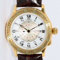Longines Lindbergh Hour Angle Yellow gold 38mm Silver Roman numerals