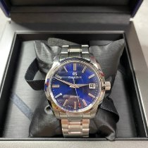 Seiko Grand Seiko Steel 40mm Blue No numerals