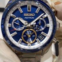 Seiko Astron GPS Solar Сталь 42.7mm Синий
