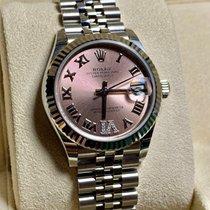 Rolex Lady-Datejust Aço Cor-de-rosa