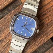 Longines Ultronic Steel 37mm Blue No numerals