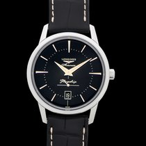 Longines Flagship Heritage Steel 38.5mm Black United States of America, California, Burlingame