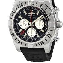 Breitling Chronomat GMT Stahl 47mm Schwarz Keine Ziffern