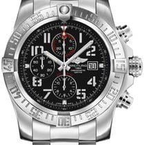 Breitling Super Avenger II Steel 48mm Black Arabic numerals United States of America, New Jersey, Edgewater