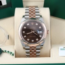 Rolex Datejust II Gold/Steel 41mm Brown No numerals United States of America, California, Los Angeles