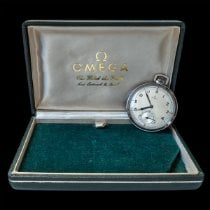 Omega Watch pre-owned 1937 Steel 45mm Arabic numerals Manual winding Watch with original box