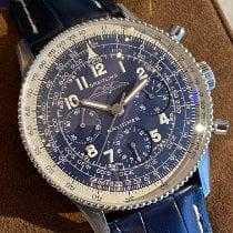 Breitling Platinum Manual winding Blue Arabic numerals 41mm new Navitimer