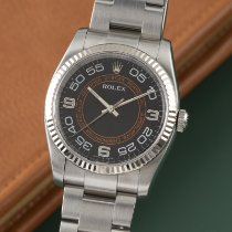 Rolex Oyster Perpetual 36 Gold/Steel 36mm Black