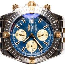 Breitling Chronomat Evolution Gold/Steel 44,00mm Blue No numerals