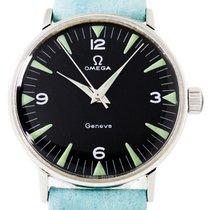 Omega Genève Steel 34mm Black Arabic numerals