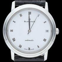 Blancpain Villeret occasion 34mm Blanc Date Cuir