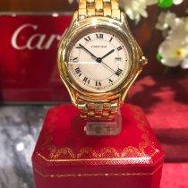 Cartier Cougar Желтое золото 33mm Cеребро Римские